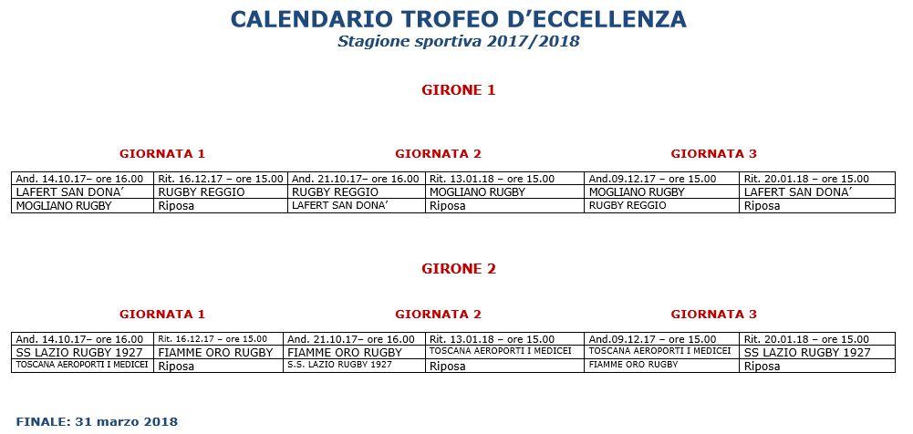 Calendario Eccellenza Toscana.Trofeo Eccellenza Varato Il Calendario 2017 18 Boccaccio
